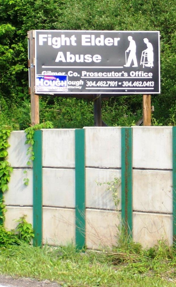 Anti-elder abuse sign